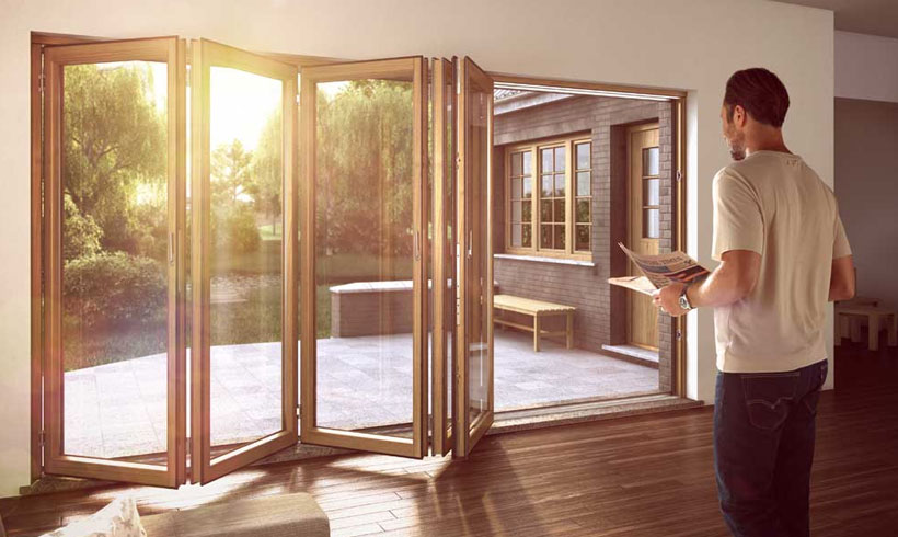 timber of bifold doors